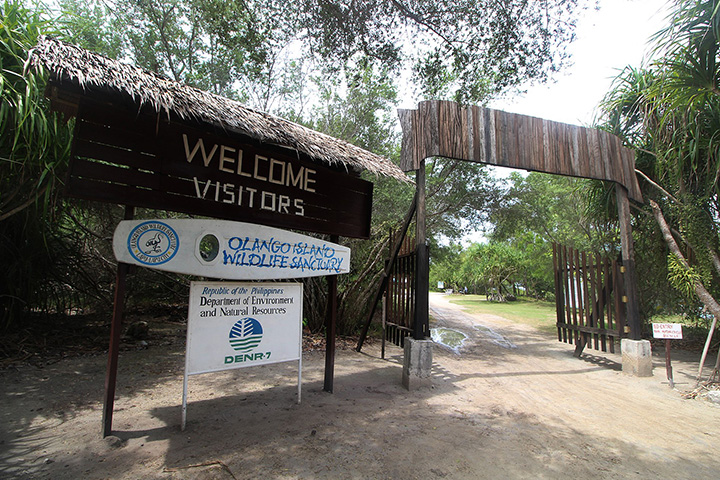 Olango Island Wildlife Sanctuary entrance